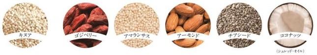 製品で使われている6種のスーパーフード