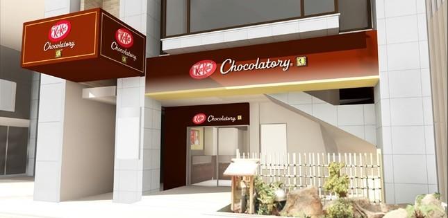 「キットカット ショコラトリー」銀座店の外観(イメージ)