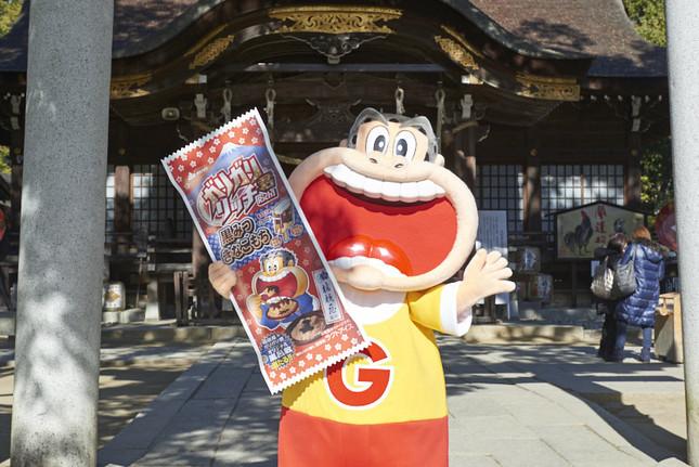 桔梗屋に縁のある山梨県の武田神社にて、成功祈願イベントを行ったガリガリ