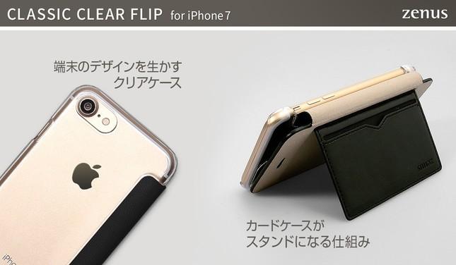 フリップを360度開いて二つ折りにしカードをフリップから離して支えに
