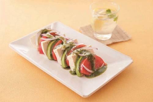 調理例 パクレーゼ~トマトと豆腐のアジア風前菜~