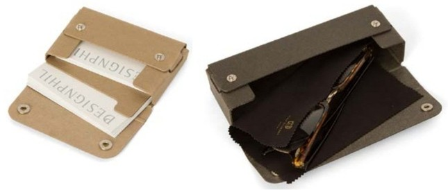 カードケース(左)とメガネケース