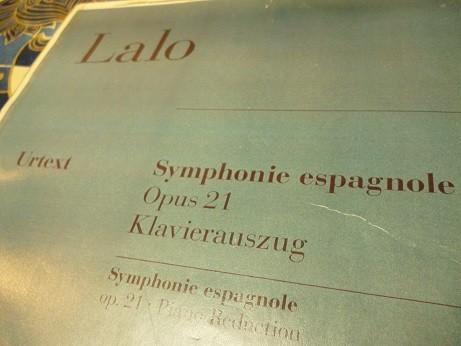 スペイン交響曲の楽譜