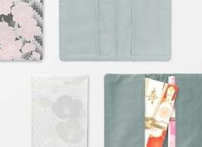 京都で織った慶弔両用「JAPANWORKS ふくさ」に新柄「淡墨桜」「雪椿」