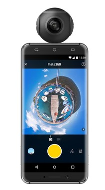 Androidスマートフォンに接続できる360度カメラ