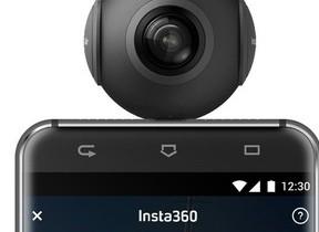 Androidスマホにつなげる360度カメラ「全天球写真&動画」を撮影
