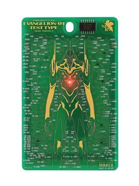 FLASH EVA01 基板アート ICカードケース 緑/(C)khara