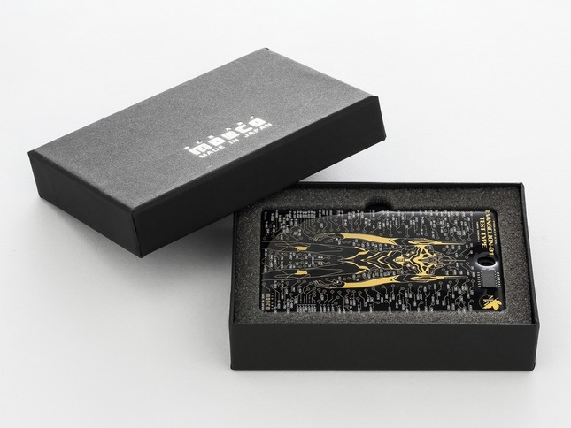 FLASH EVA01 基板アート ICカードケース 黒 BOX付き/(C)khara