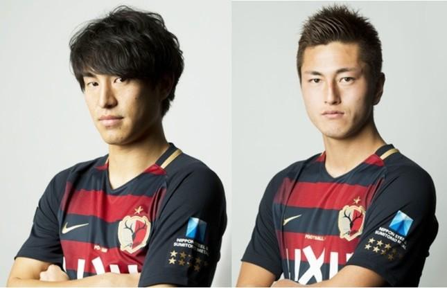 得点した金崎夢生(左)と鈴木優磨(画像は鹿島アントラーズ公式サイトから)