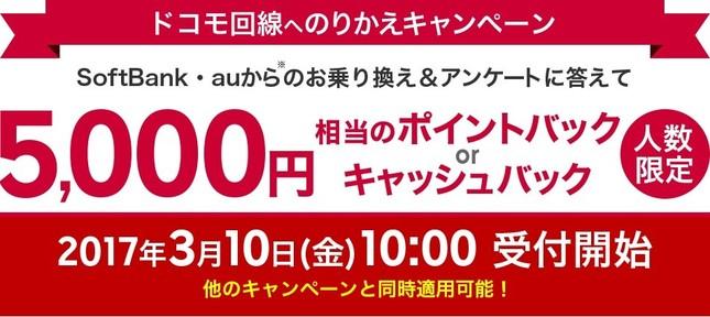 楽天モバイル「NTTドコモ回線へののりかえキャンペーン」
