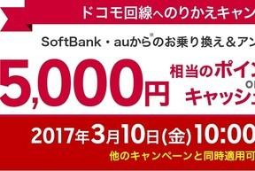 攻める楽天モバイル NTTドコモ回線以外からのMNPに5000円分を還元