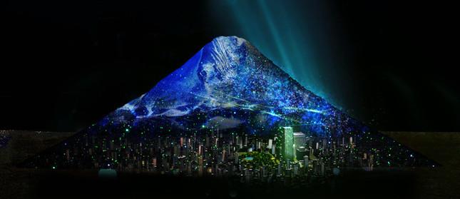 Scene3:東京ミッドタウンと富士山の出会い