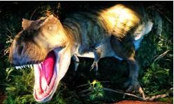 ロビーで客を威圧するティラノザウルス(1/1スケール