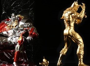 プラチナ箔と純金箔のキン肉マンフィギュア 悪魔将軍が登場