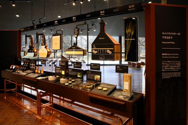常設展示「宮城峡蒸溜所のウイスキーができるまで」