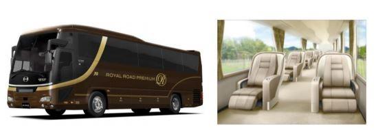 ファーストクラスのように贅沢なバス