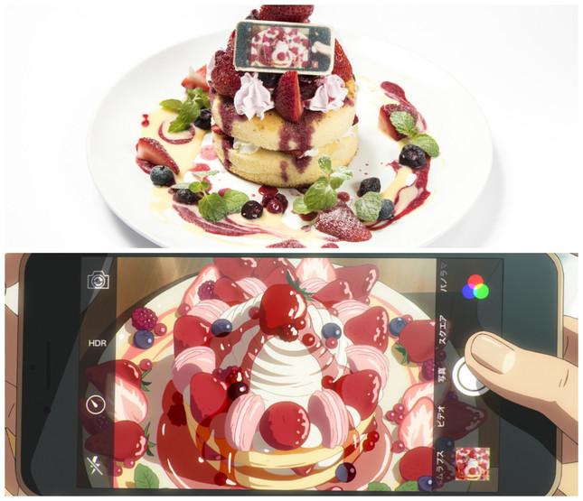 「瀧と入れ替わった三葉も思わず写真を撮りたくなったパンケーキ」(c)2016「君の名は。」製作委員会