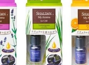 【天然アロマ配合の車用芳香剤 ラベンダー、レモングラスなど本格的な3つの香り