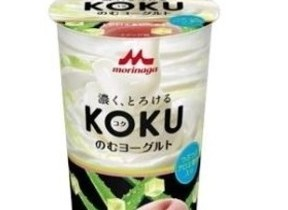 濃厚でとろける「KOKU のむヨーグルト」にアロエ&ピーチ味