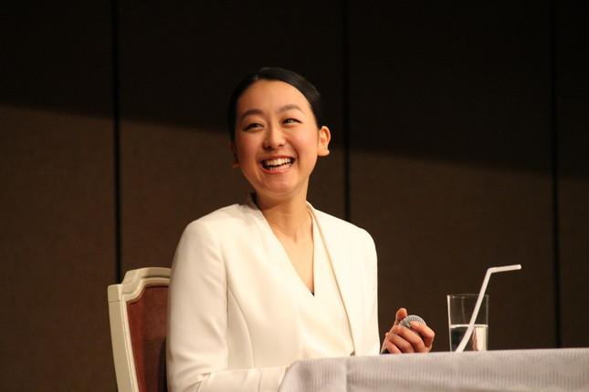 引退会見時の浅田さん