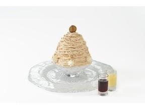 モンブランケーキじゃないよ たっぷり蜜がかかった「モンブラン氷」
