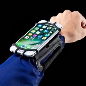 スマホを手首に装着できる「スマートフォンリストバンド」 様々な機種に対応する汎用タイプ