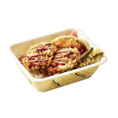 ハンバーグ天丼弁当