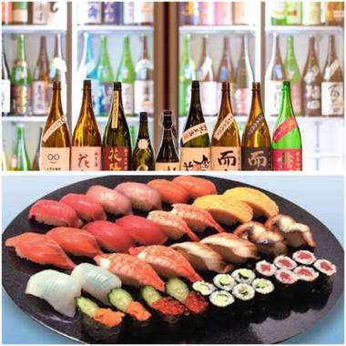 日本酒は、全国から厳選した80種