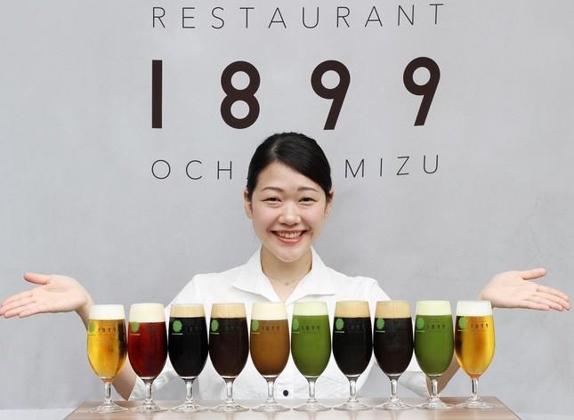 和紅茶ビール(左から5番目)は新感覚の味