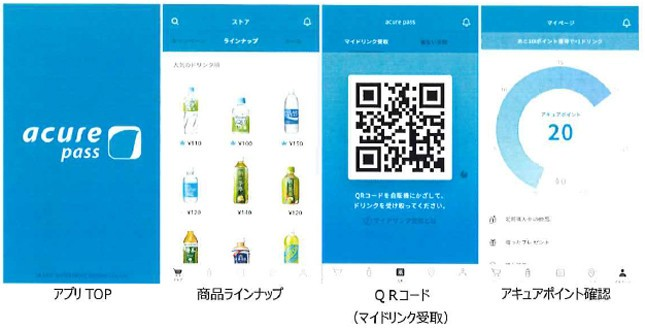 スマホアプリ「acure pass(アキュアパス)」