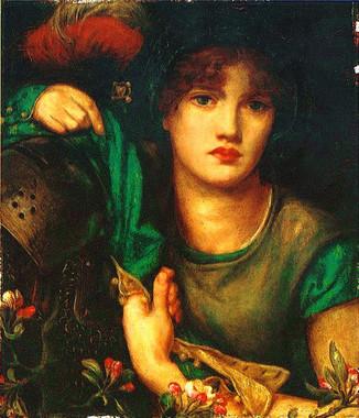 19世紀ラファエル前派の画家、ロセッティによるレディ・グリーン・スリーブスの絵