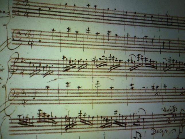 モーツアルトの自筆譜とされる楽譜