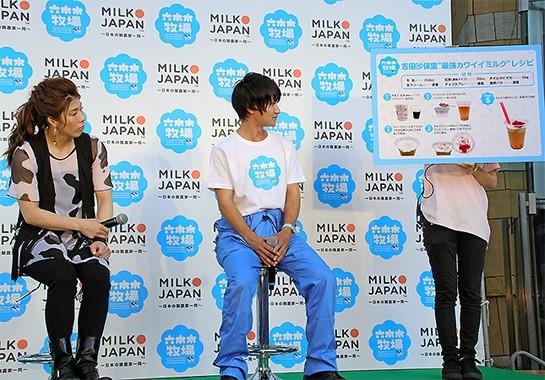 写真中央は千葉の酪農家の須藤健太さん