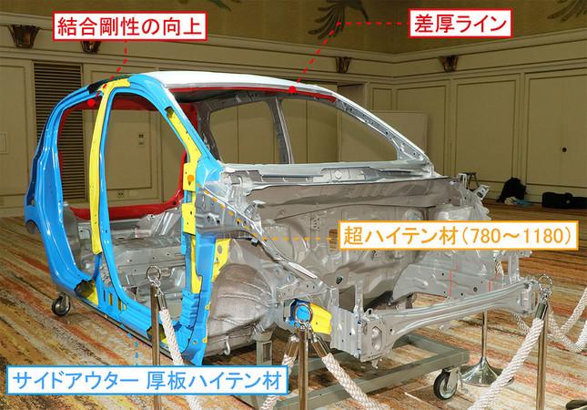 軽量高剛性ボディ「Dモノコック」の採用などで約80kgの軽量化を実現