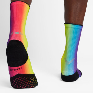 NIKE ELITE CUSHION CREW BETRUE RUNNING SOCKS