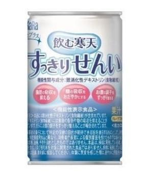 3つの機能を持つ「難消化性デキストリン」配合 「飲む寒天 すっきりせんい」