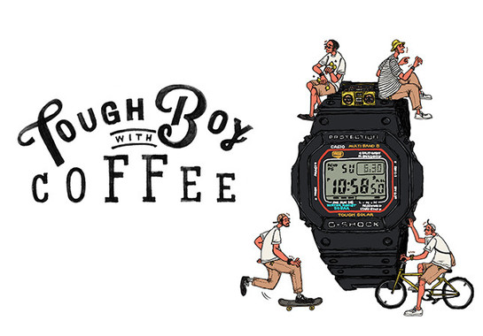 「TOUGH BOY WITH COFFEE」のロゴ