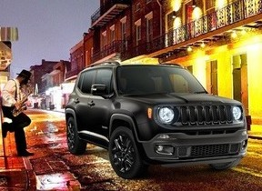 FCAジャパン、ブラックベースのシックでクールな限定モデル「Jeep Renegade Night Eagle」200台限定発売