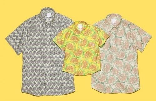 沖縄の自然をデザインしたかりゆしシャツ