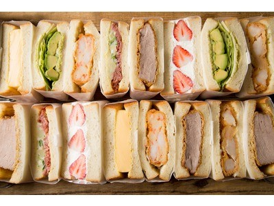 幸せあふれるサンドイッチ