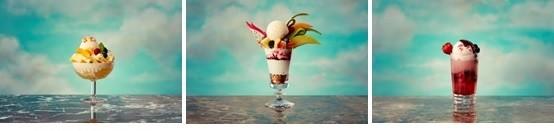 アイスとフルーツを使ったリゾートデザート