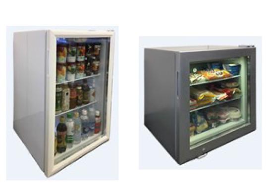 (写真左から)冷蔵庫、冷凍庫。プチローソンのオプション