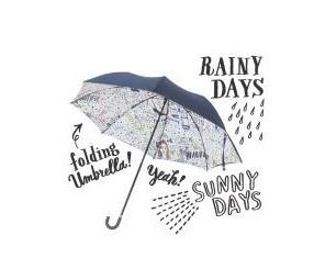 ポップでキュートなイラストとメッセージで雨でも晴れでもハッピー!