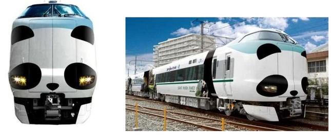 パンダフェイスがかわいいアドベンチャーワールドコラボのラッピング列車
