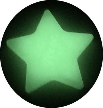 暗闇で光る星型フィギュア