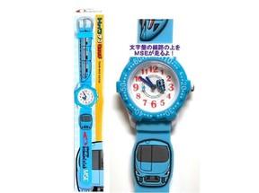 「青いロマンスカーMSE」が腕時計の盤面を走る! 大人も子どもも装着可能なトレインデコウォッチ