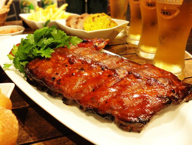 背中側の骨付きロース肉「バックリブプレート」