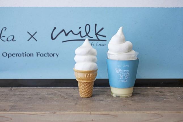 ミルキーパフェとソフトクリーム