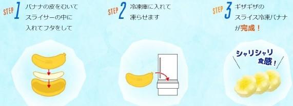「冷凍用 バナナスライサー」の使い方
