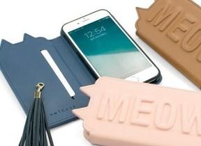 にゃんこをポケットに 三角耳や揺れるしっぽが付いたiPhoneケース